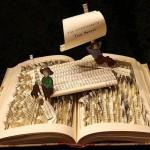 Book sculptures by Jodi Harvey-Brown