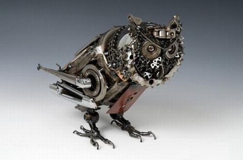 Car parts sculptures by James Corbett