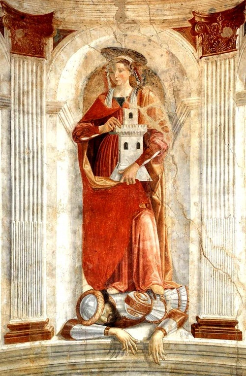 Saint Barbara in art. Ghirlandaio, Domenico - St Barbara