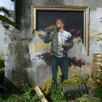 Irish Street Artist and realist painter Fintan Switzer combines a classical style with a modern street art into a beautiful mural painting.