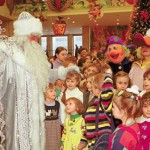 Talk with children. New Year's day and Christmas celebration at Kremlin Palace