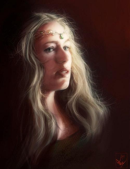 Lena Headey as Cersei Lannister , Game of Thrones fan art Digital art by Ania Mitura