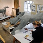 Making lions in the studio British artist Kendra Haste