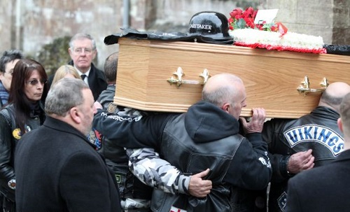 The funeral of a biker