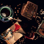 Photo collage 'Tea and Coffee' notebook