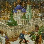Painting by Russian artist Vasily Sitnikov