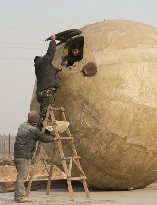 Rescue balls for Apocalypsis by Chinese farmer Liu Qiyuan