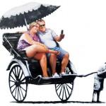 Rickshaw. Banksy's Environmental Message
