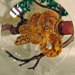 A snake. Stained glass painting by Tatyana Zinkovskaya