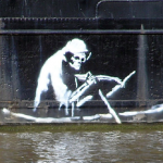 The Death Boat. Rather creepy Environmental Message from English street artist Banksy