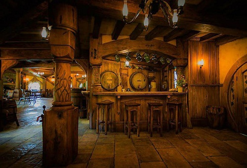 The Hobbit-bar 'the Green Dragon' in Hobbiton, New Zealand
