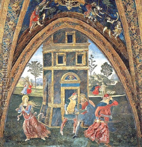 The Martyrdom of Saint Barbara. By Bernardino di Betto (Pinturicchio) 1454-1513