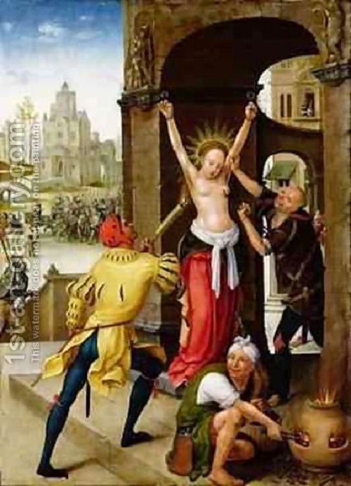 The Martyrdom of St. Barbara, 1528. By Jean The Elder Bellegambe