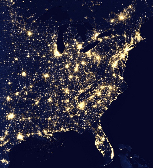 The USA. 'Unlike humans, the Earth never sleeps.' - the statement of NASA