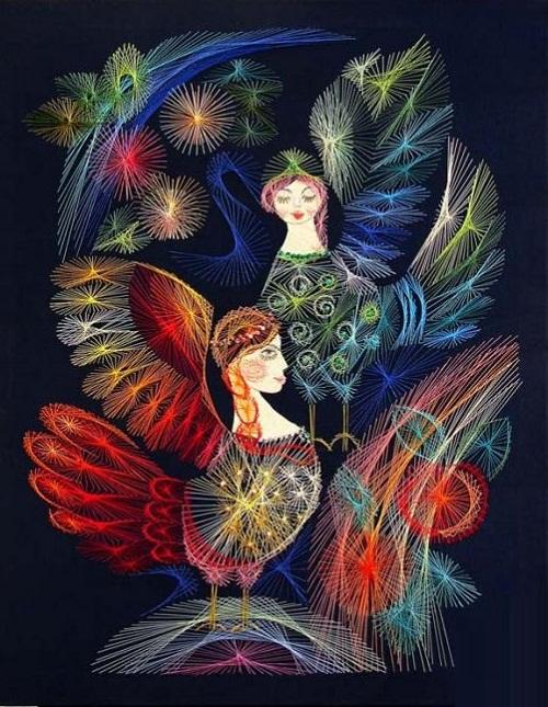 String art by Olga Voronova