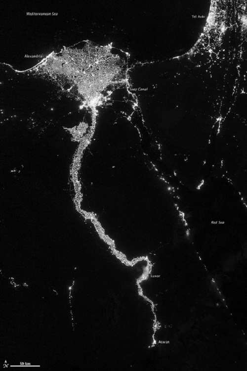 The fantastic light of the Nile River