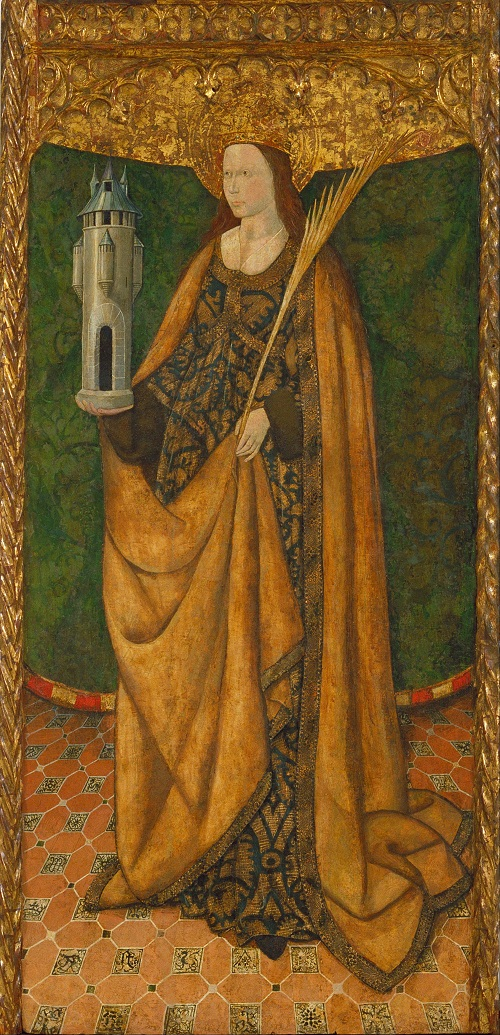 Title Saint Barbara. Date Third quarter of 15th century