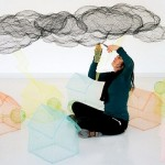 Talented Italian artist Benedetta Mori Ubaldini creating her new sculptural composition