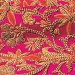 Fragment of Zardozi embroidery