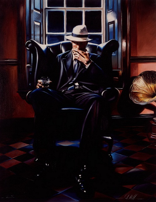 Hyperrealistic painting by British artist Rob Hefferan