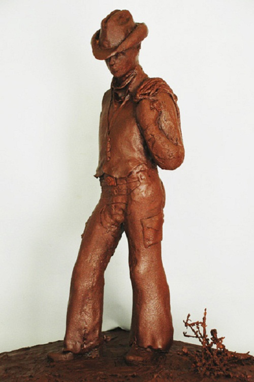 chocolate cowboy. Food Sculptures by Jim Victor