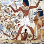 tapestry Egyptian fresco