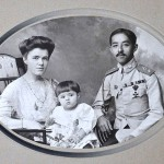 Prince Chakrabongse, Princess Ekaterina Desnitskaya and their son Chakrabongse Bhuvanath, Jr
