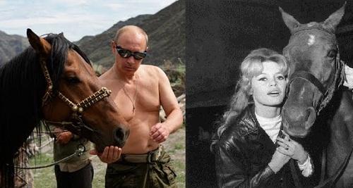 Vladimir Putin, Brigitte Bardot, both animal lovers