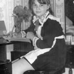 Tatyana Snezhina as a schoolgirl