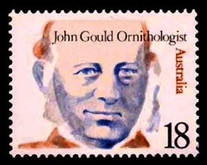 John Gould, ornithologist, Australian stamp