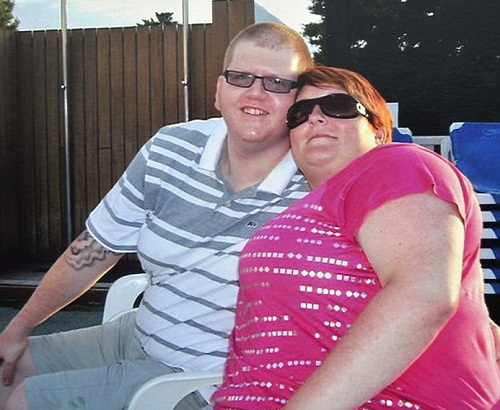 Claire Alsop and her husband Paul overweight