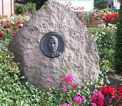 Memorial stone to the founder, Wilhelm Kordes