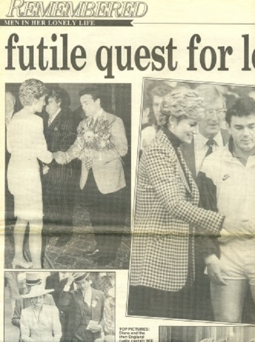 Diana Spencer and Adam Russell in Not to be published photo. Men in her lonely life