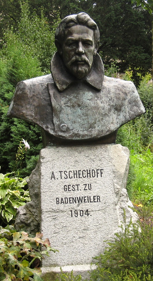 Monument to Anton Chekhov in Badenweiler, Germany