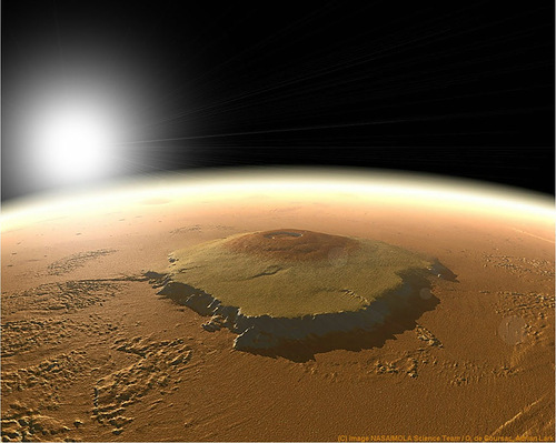 The highest mountain in the solar system - Olympus Mountain (Nix Olympica)