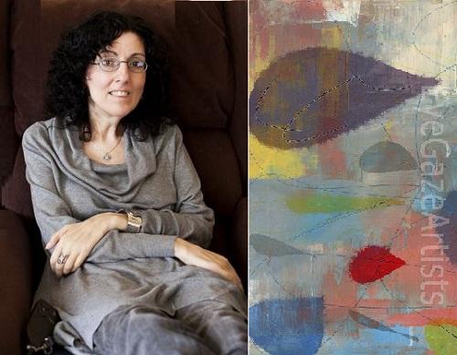 Sarah Ezekiel painting with eyes