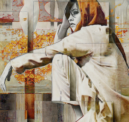 Shape and geometry in painting by Italian artist Sergio Cerchi