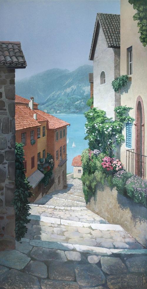 "Wall painting ""Italian Street"""
