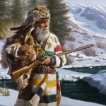 A hunter. Painting by California based artist Alfredo Rodriguez