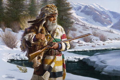 Native Americans in paintings by Mexican artist Alfredo Rodriguez