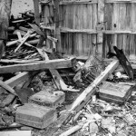 Empty jerrycans of gasoline reportedly used by SS Troops to burn bodies of Adolph Hitler & Eva Braun after their suicides in his command bunker