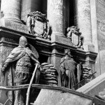 At the Reichstag, evidence of a practice common throughout the centuries: soldiers scrawling graffiti to honor fallen comrades, insult the vanquished or simply announce, I was here. I survived.' This photo was not originally published in LIFE