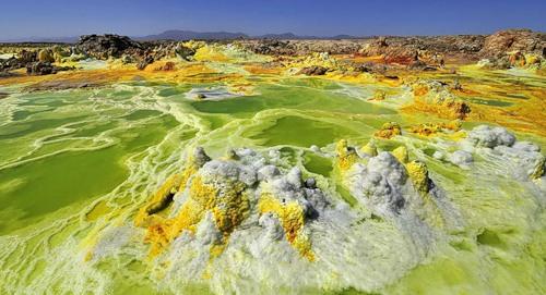 Dallol - beautiful volcanic crater in Ethiopia