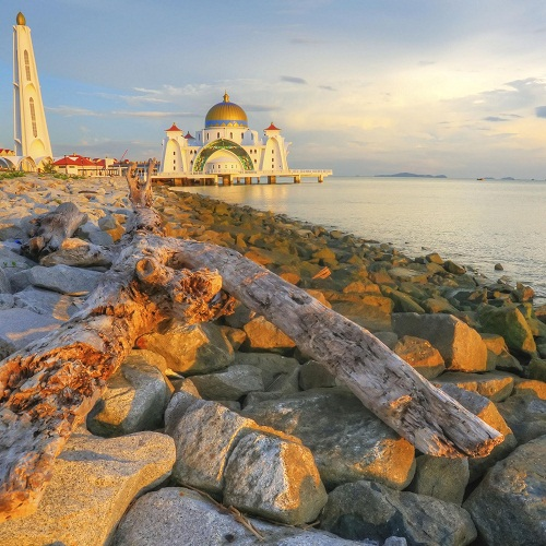 Beautiful Malacca Strait Mosque
