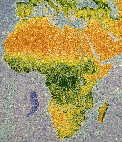 Beautiful gem map of African continent
