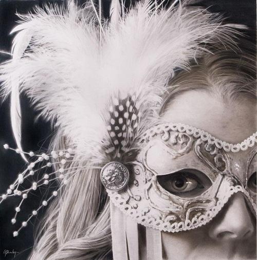 Hyperrealistic silverpoint art by Gordon Hanley