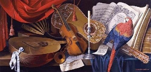 Sic transit (Thus passes the glory of the world). Rococo painter Vladimir Hozatski