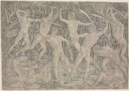"The ""battle of ten naked» Antonio del Pollaiolo"