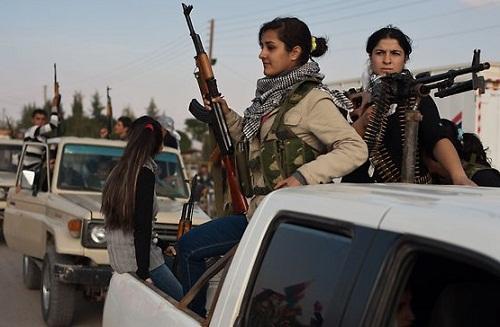 Kurdish female battalion
