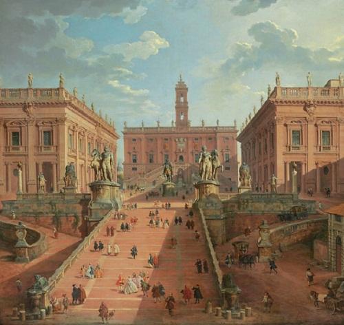 View of the Campidoglio, Rome by Giovanni Paolo Panini (Piacenza 1691-1765 Rome), price $3,442,500